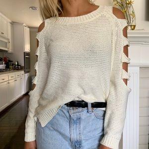 LF white sweater